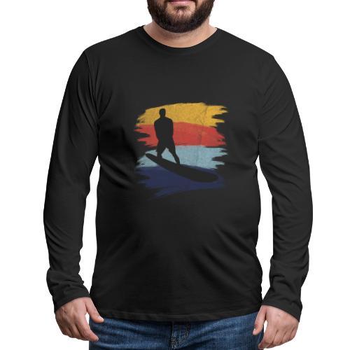 Wellenreiten Retro-Stil, Vintage - Männer Premium Langarmshirt