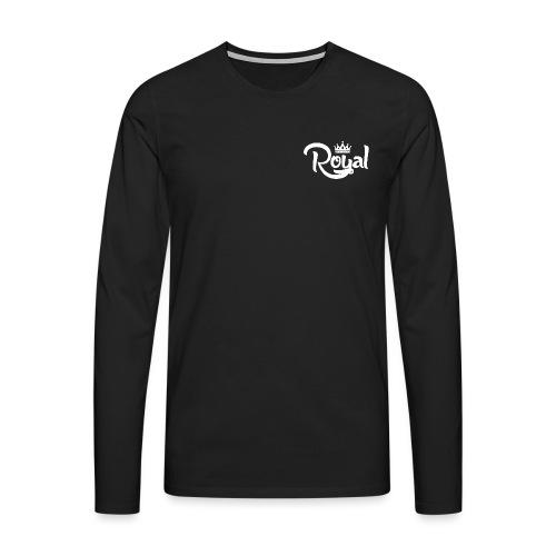 Royal Logo White Edition - Men's Premium Longsleeve Shirt