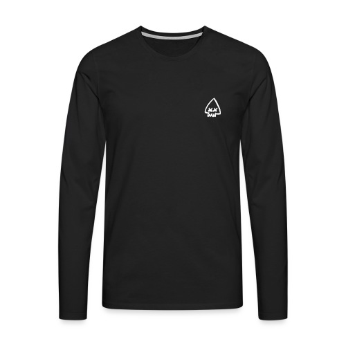 Squid Logo - White - Men's Premium Longsleeve Shirt