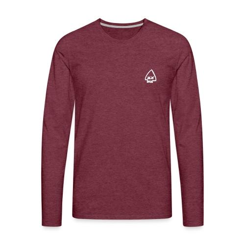 Squid Logo - White - Men's Premium Longsleeve Shirt