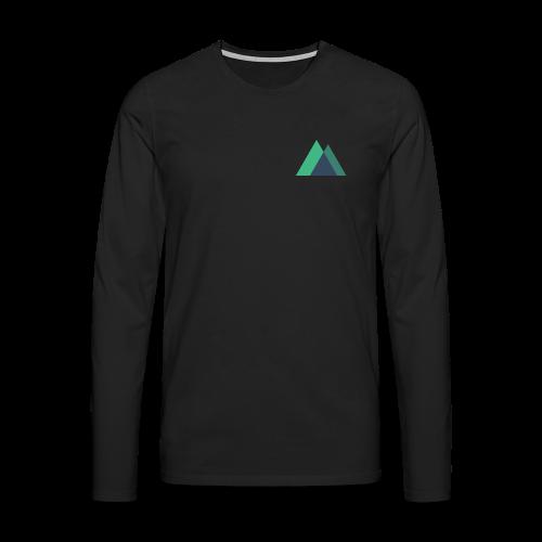 Mountain Logo - Men's Premium Longsleeve Shirt