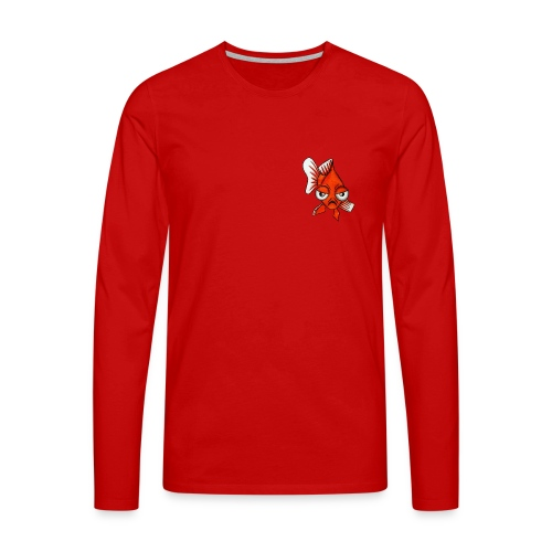Angry Fish - T-shirt manches longues Premium Homme