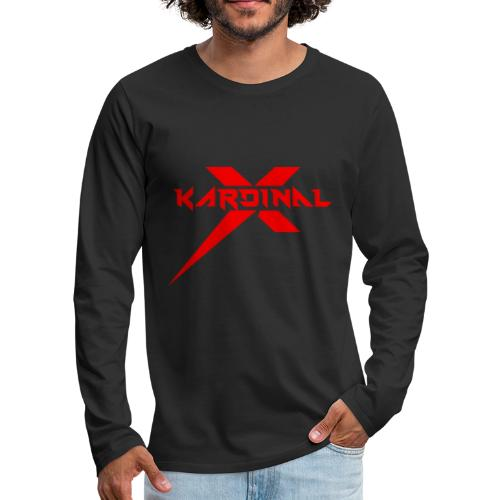 Kardinal X Logo - Men's Premium Longsleeve Shirt