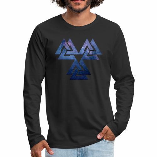 Valknut - Miesten premium pitkähihainen t-paita