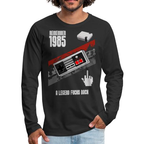 LEGEND OF 1985 - Männer Premium Langarmshirt