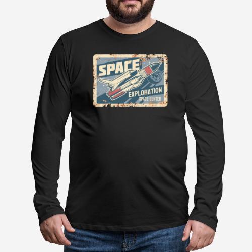 space ship explorer - Männer Premium Langarmshirt