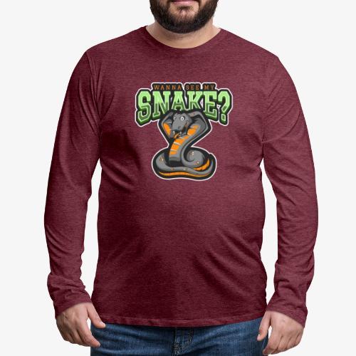 Wanna see my Snake III - Miesten premium pitkähihainen t-paita