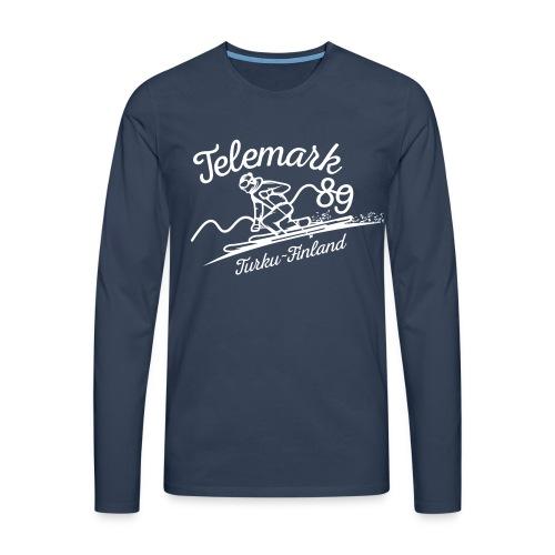 Telemark ´89 logopainatus - Miesten premium pitkähihainen t-paita