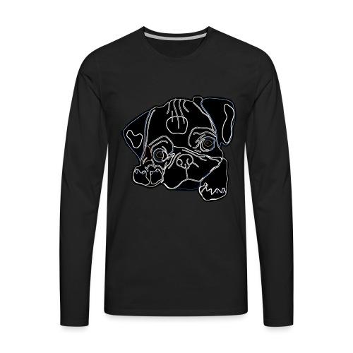 Pug Face - Men's Premium Longsleeve Shirt