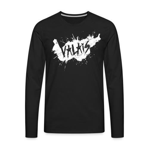 VALAIS GRUNGY WEISS - Männer Premium Langarmshirt