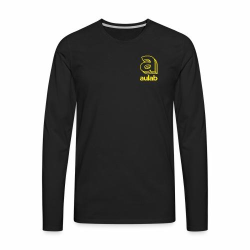 Marchio aulab giallo - Maglietta Premium a manica lunga da uomo