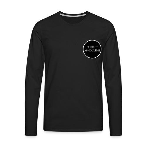 freerun noir logo - T-shirt manches longues Premium Homme