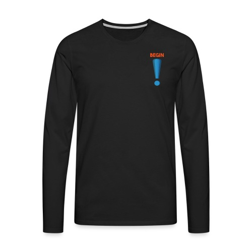 logo point exclamation - T-shirt manches longues Premium Homme
