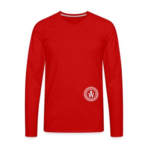 wit logo transparante achtergrond - Mannen Premium shirt met lange mouwen