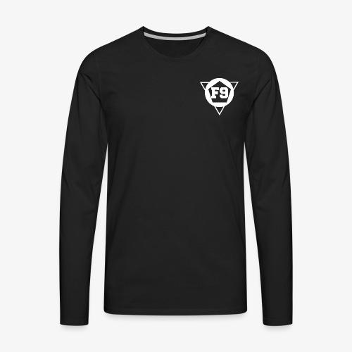 False 9 official logo white png - Men's Premium Longsleeve Shirt