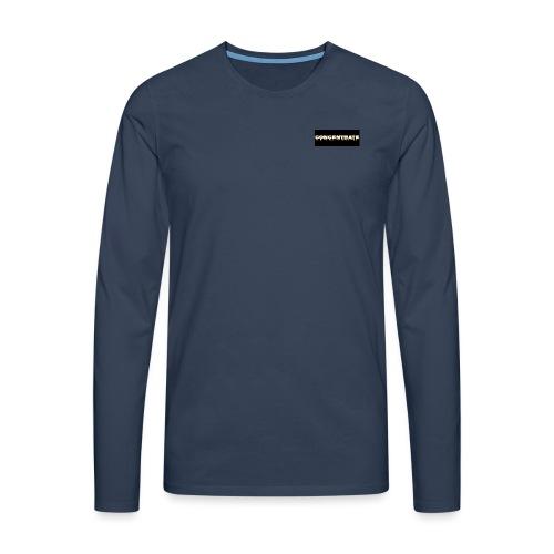 Concentrate on black - Men's Premium Longsleeve Shirt