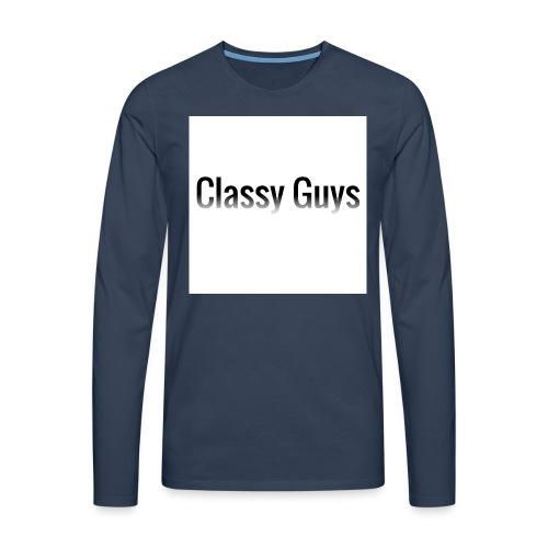 Classy Guys Simple Name - Men's Premium Longsleeve Shirt