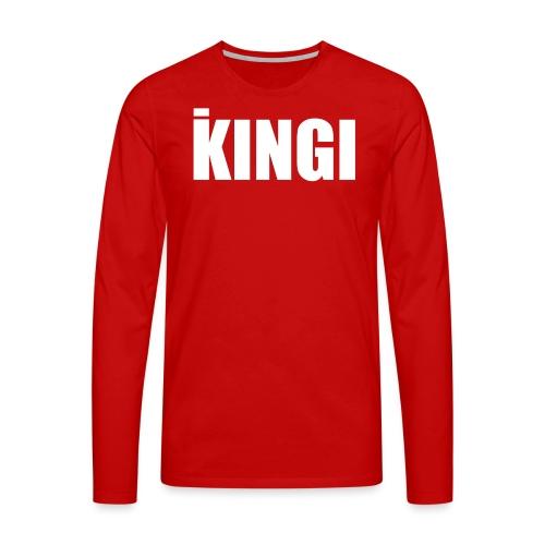 iKINGI - Miesten premium pitkähihainen t-paita