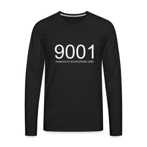 90001 resons to avoid using the phone png - Men's Premium Longsleeve Shirt