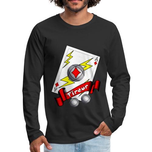 t shirt petanque tireur as du carreau boules - T-shirt manches longues Premium Homme