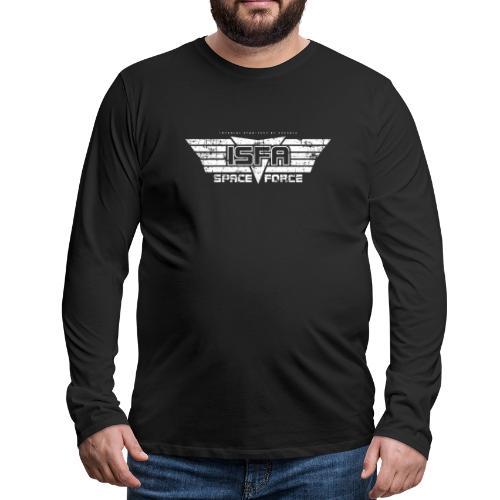 ISFA Spaceforce White grunge - Männer Premium Langarmshirt