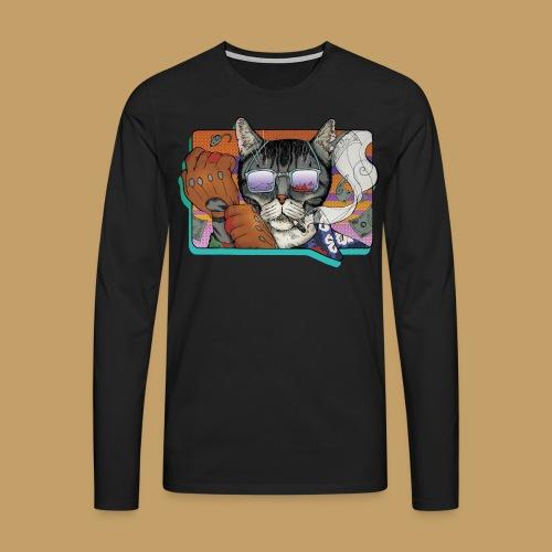 Crime Cat in Shades - Koszulka męska Premium z długim rękawem