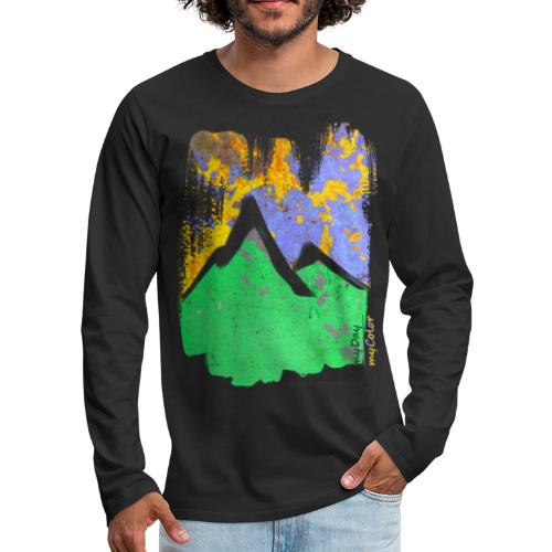 BergAbend - Männer Premium Langarmshirt