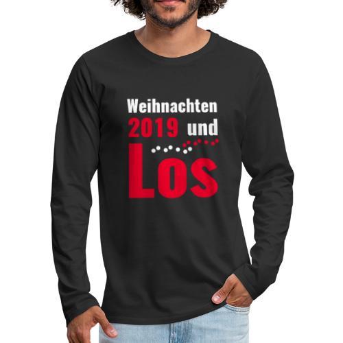 Weihnachten 2019 und Los - Männer Premium Langarmshirt