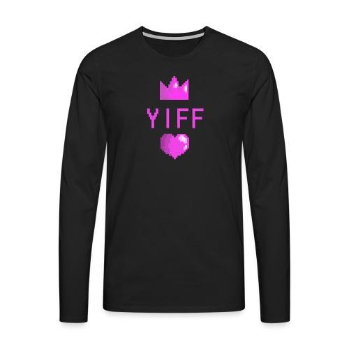 Yiff - Miesten premium pitkähihainen t-paita
