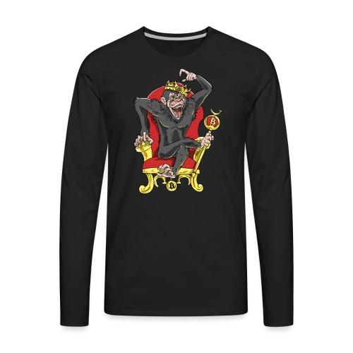 Bitcoin Monkey King - Beta Edition - Männer Premium Langarmshirt