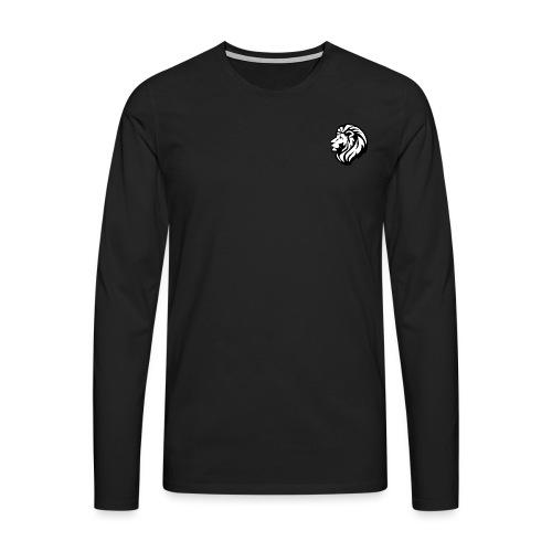 LION - Maglietta Premium a manica lunga da uomo