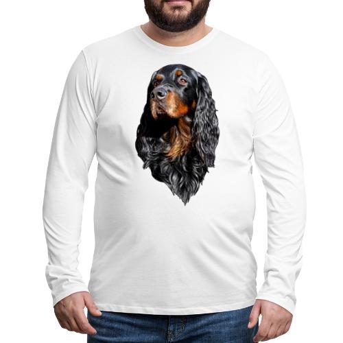 Gordon Setter Portrait - Miesten premium pitkähihainen t-paita