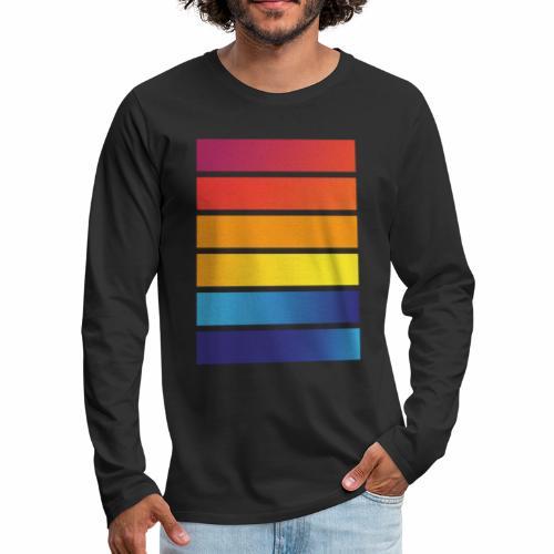 Colorful stripes - Men's Premium Longsleeve Shirt