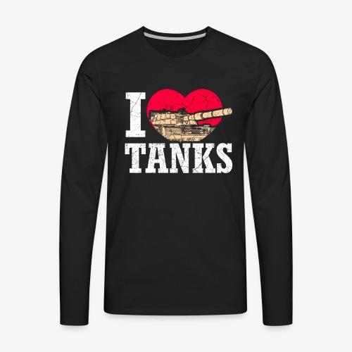 Panzerdivision Krieg Militär Geschenkidee Veterane - Männer Premium Langarmshirt