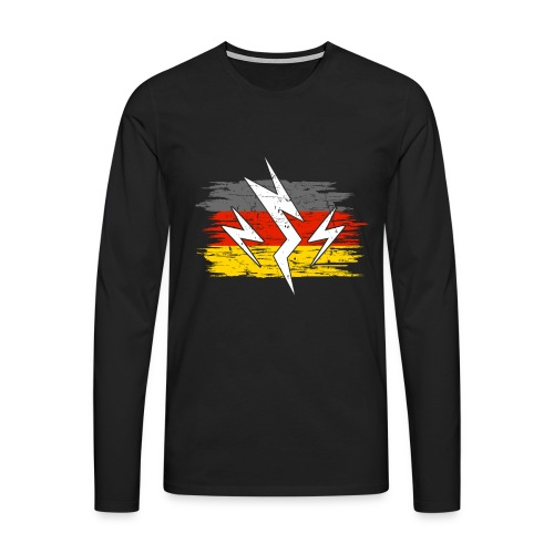 Deutschland Strom Elektroauto Geschenk - Männer Premium Langarmshirt