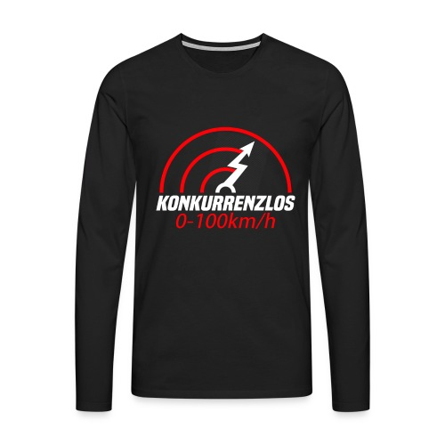 Konkurrenzlos 0-100 km/h Geschenk Elektroauto - Männer Premium Langarmshirt