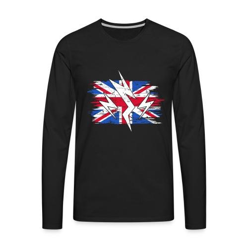 Großbritannien Strom Elektroauto Geschenk - Männer Premium Langarmshirt