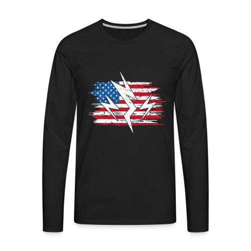 USA United States Strom Elektroauto Geschenk - Männer Premium Langarmshirt