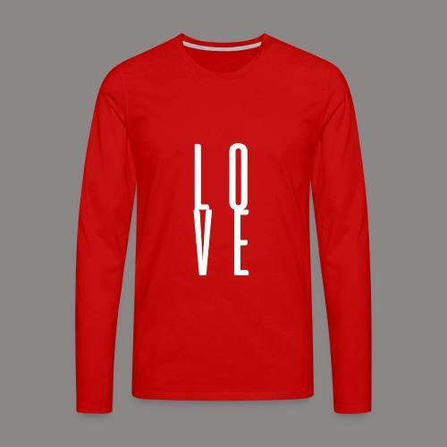 LOVEwhite - Männer Premium Langarmshirt