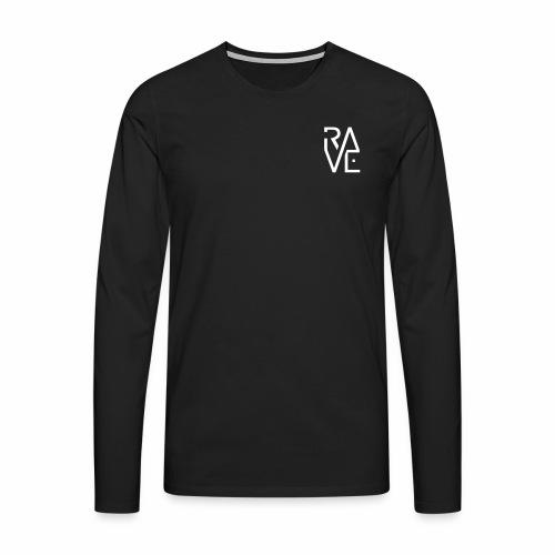 Rave Minimal Text Electronic Music Techno Schrift - Männer Premium Langarmshirt
