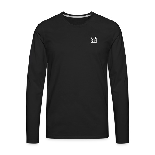 White AYWMC Camera logo - Men's Premium Longsleeve Shirt