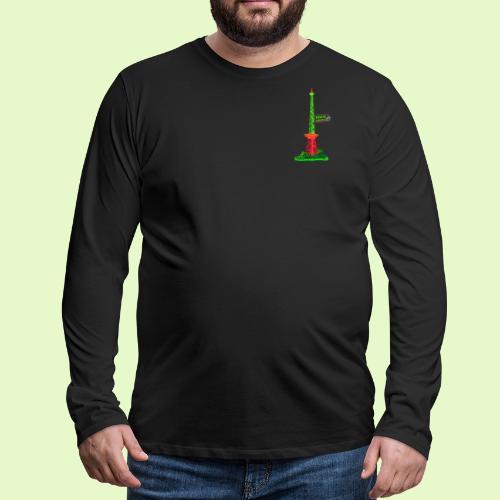 Funkturm / BerlinLightShow / PopArt Style - Männer Premium Langarmshirt