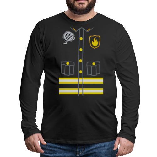 Kids Fireman Costume - Dark edition - Men's Premium Longsleeve Shirt