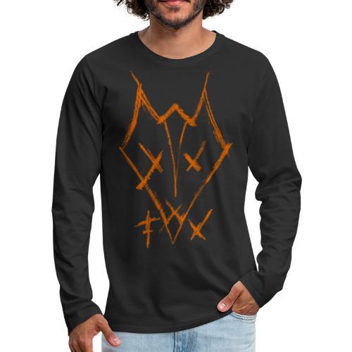 fox21x - Miesten premium pitkähihainen t-paita