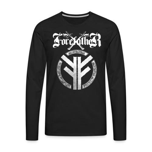 Forefather logo and symbol white - Men's Premium Longsleeve Shirt
