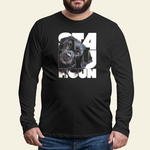 NASSU Stabijhoun 5 - Miesten premium pitkähihainen t-paita