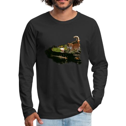 Cats meet Koi - Men's Premium Longsleeve Shirt