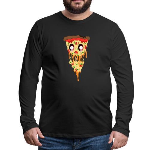 Schockierte Horror Pizza - Männer Premium Langarmshirt