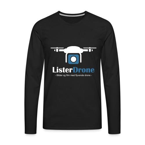 ListerDrone logo - Premium langermet T-skjorte for menn
