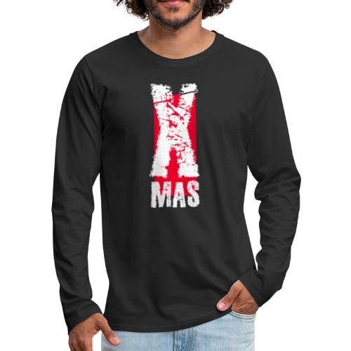 X Mas Meery Christmas Weihnachten Geschenk IDee - Männer Premium Langarmshirt
